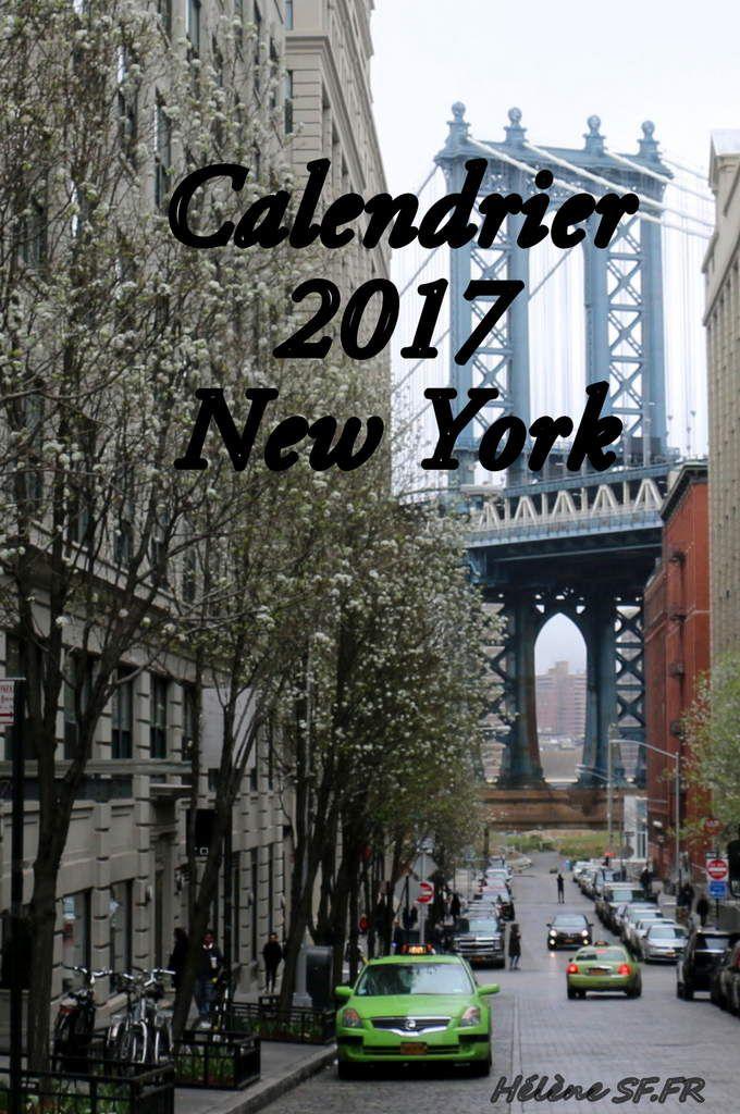 Calendrier 2017 gratuit à imprimer par mois avec des photos de New York