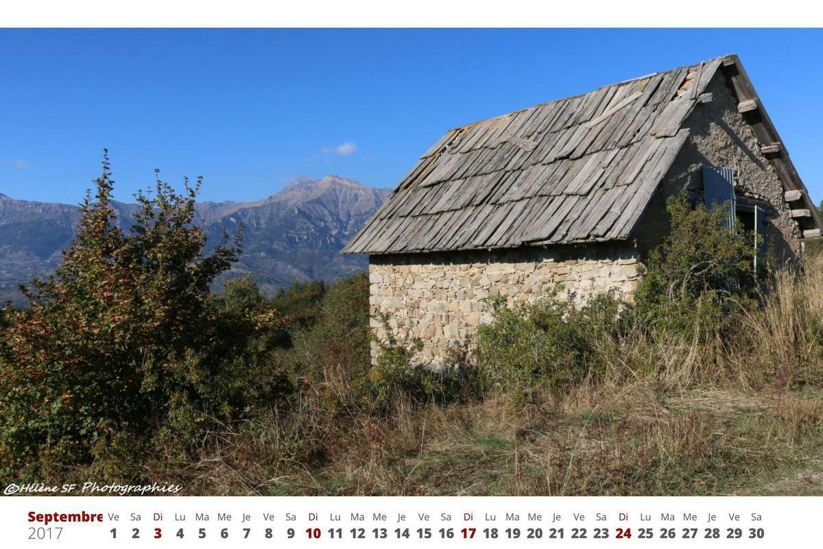 Calendrier gratuit à imprimer 2017 avec des photos de montagne des Alpes