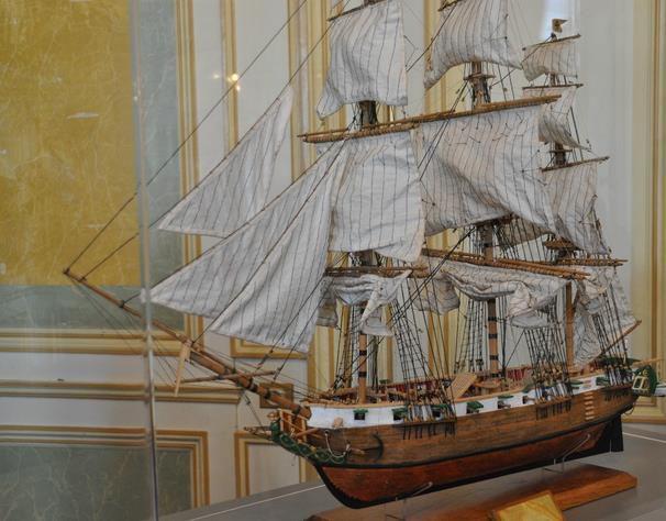 Maquette de la Sapho, exposée au musée de l'histoire de Bayonne