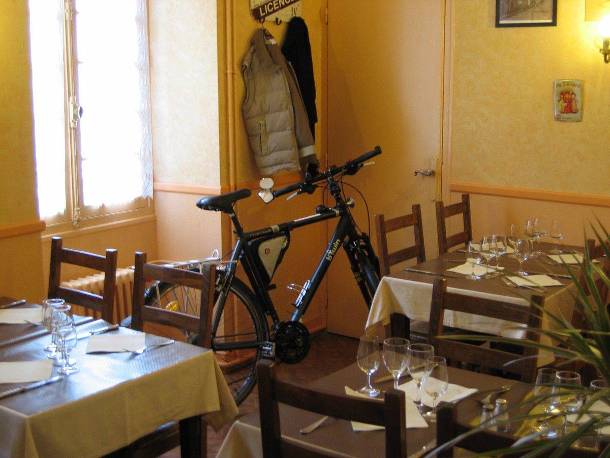 Vélo très bien logé mais privé de repas.