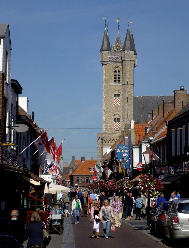 Une rue de Sluis (NL)