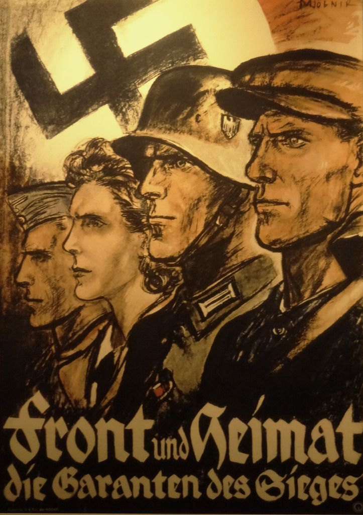 """Front and Motherland, guarantors of Victory !""  For a while Germany was the 'conductor'..."