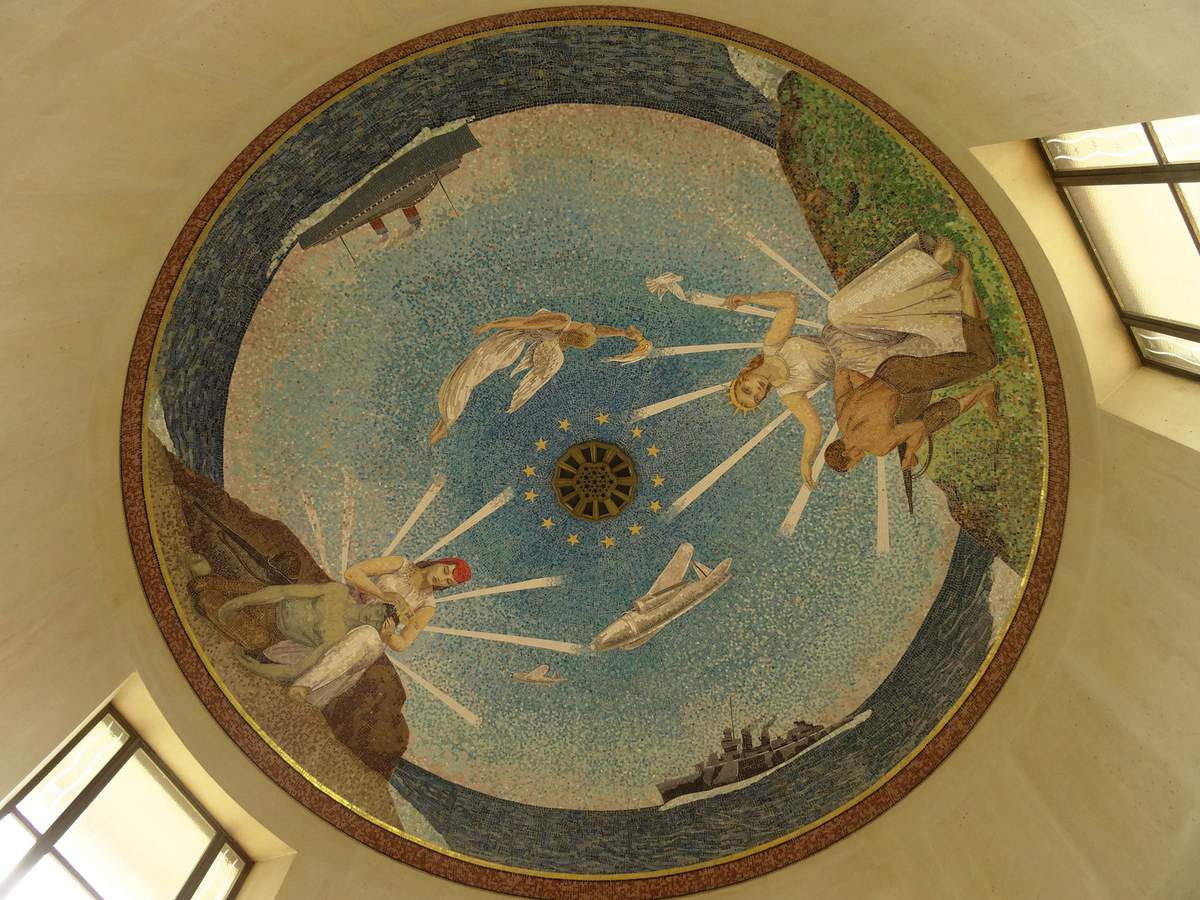 The mosaic in the dome of the chapel