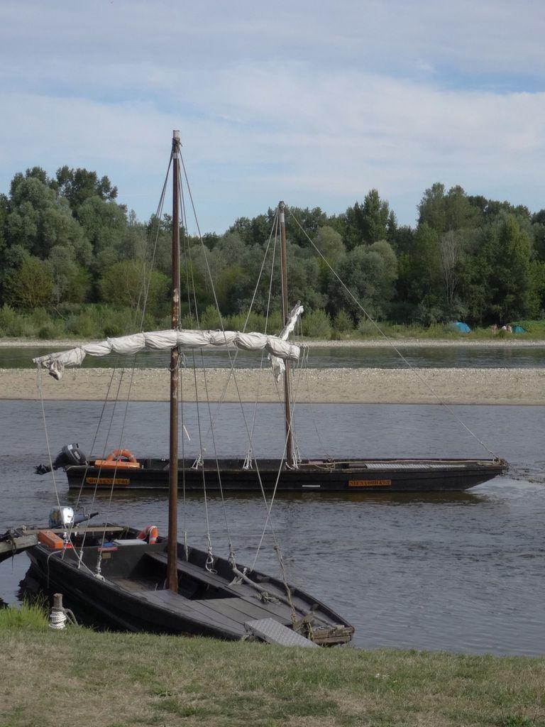 Gabares, drôles de barques à fond plat, bancs de sable oblige !