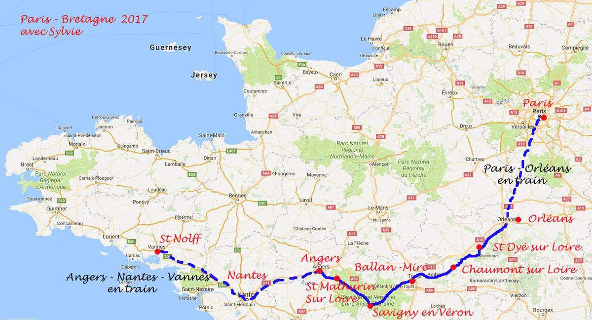Carte Bretagne Velo.Paris Bretagne En Velo 2017 Le Blog Des Voyages A Velo