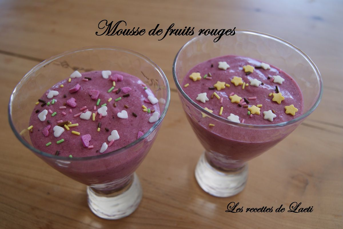 Mousse de fruits rouges