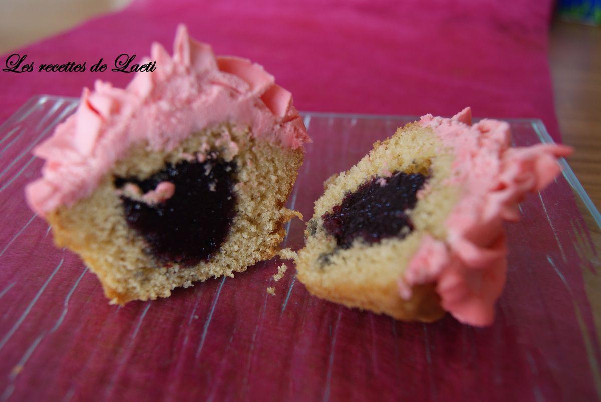 Cupcake citron et mûres
