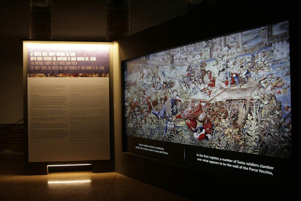 un tour à une exposition passionnante sur la bataille de Pavie (pour rétablir l'équilibre)