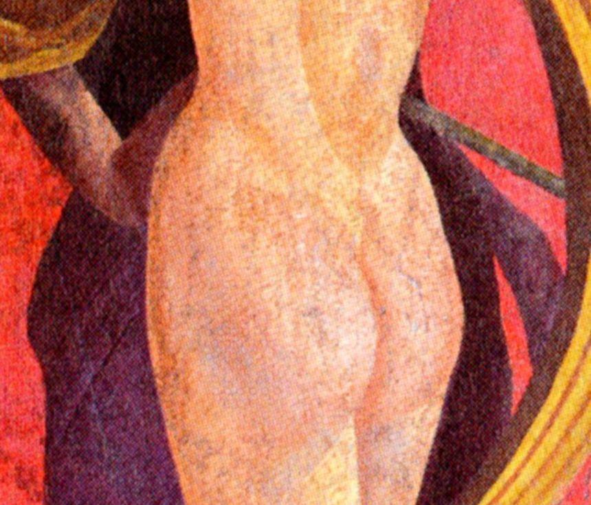 Fig. 19  Particolare  della donna che spoglia la protagonista
