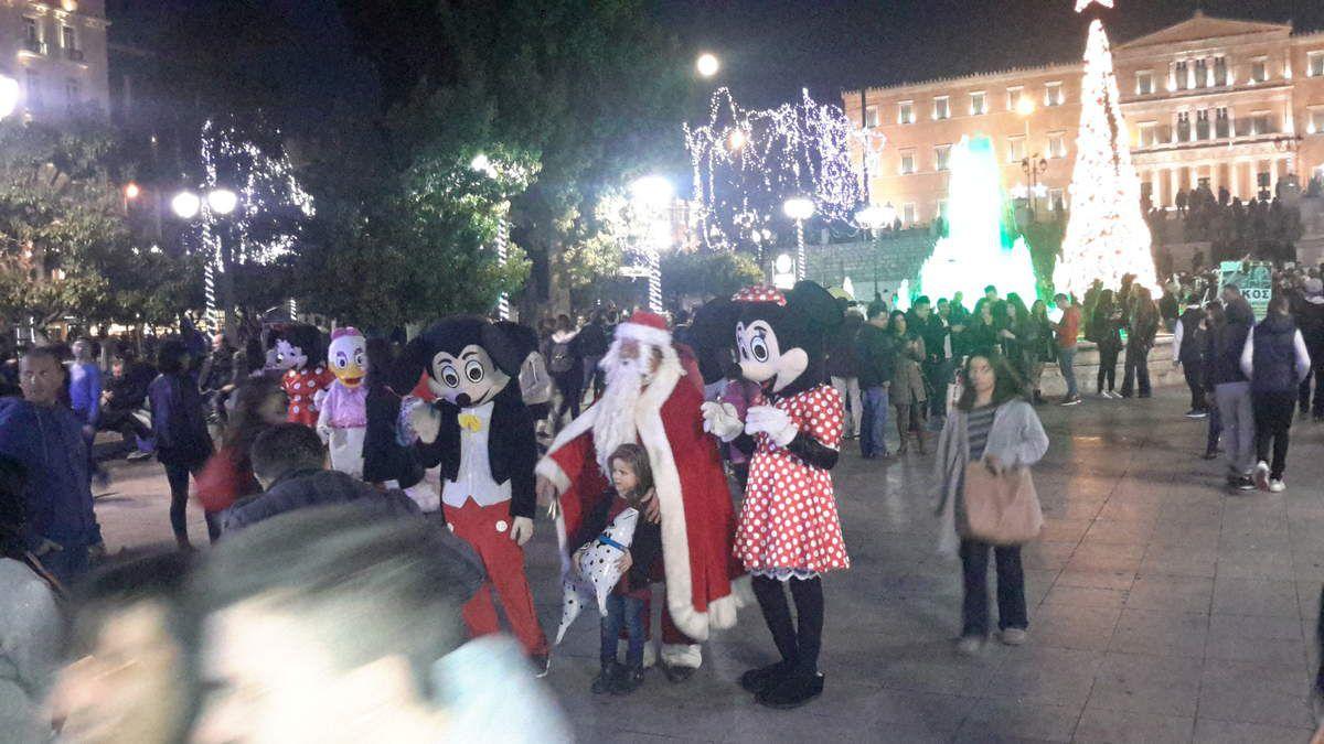 Place Syntagma le soir de Noël