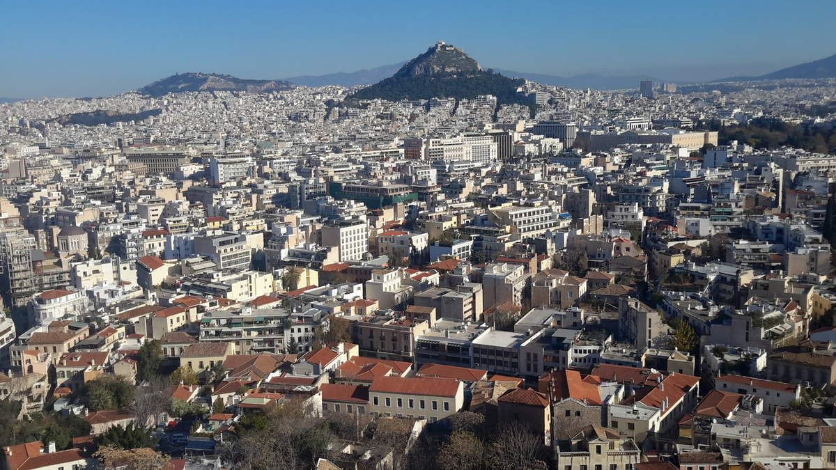 Vues d'Athènes de l'Acropole