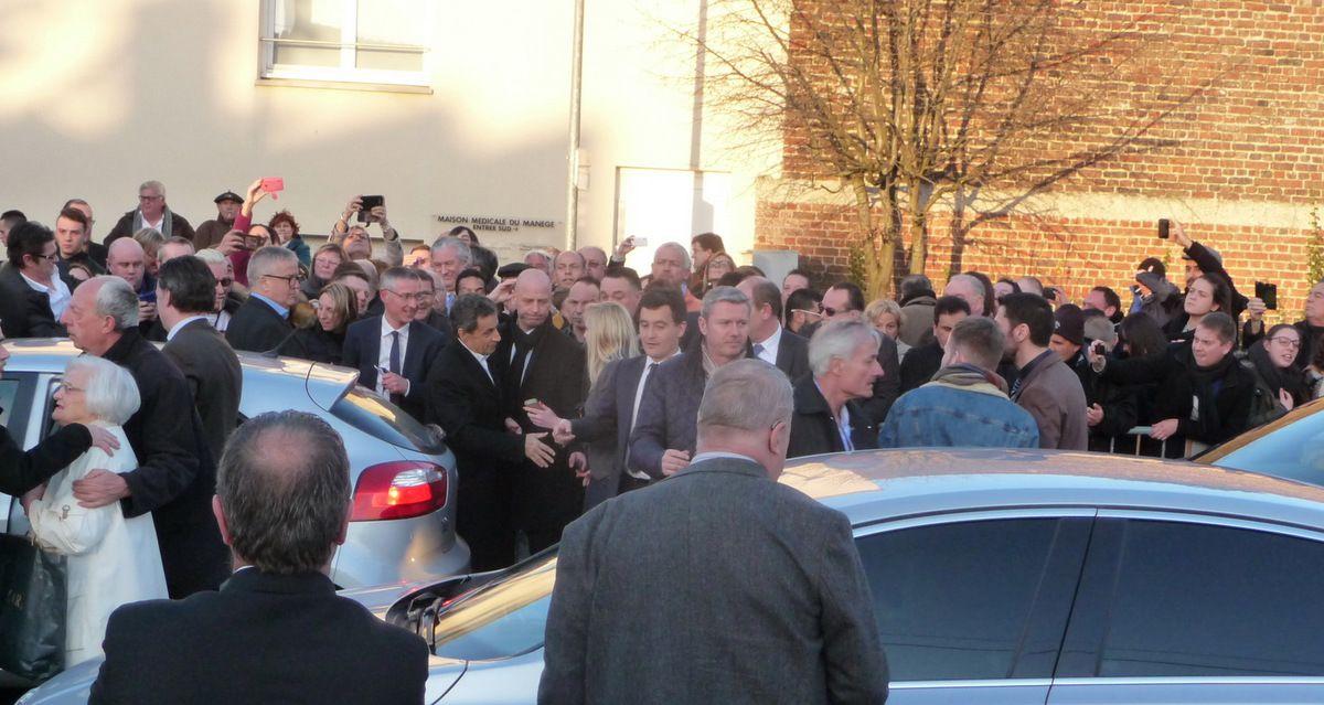 Nicolas Sarkozy Meeting à Halluin, le 21 Mars 2015.