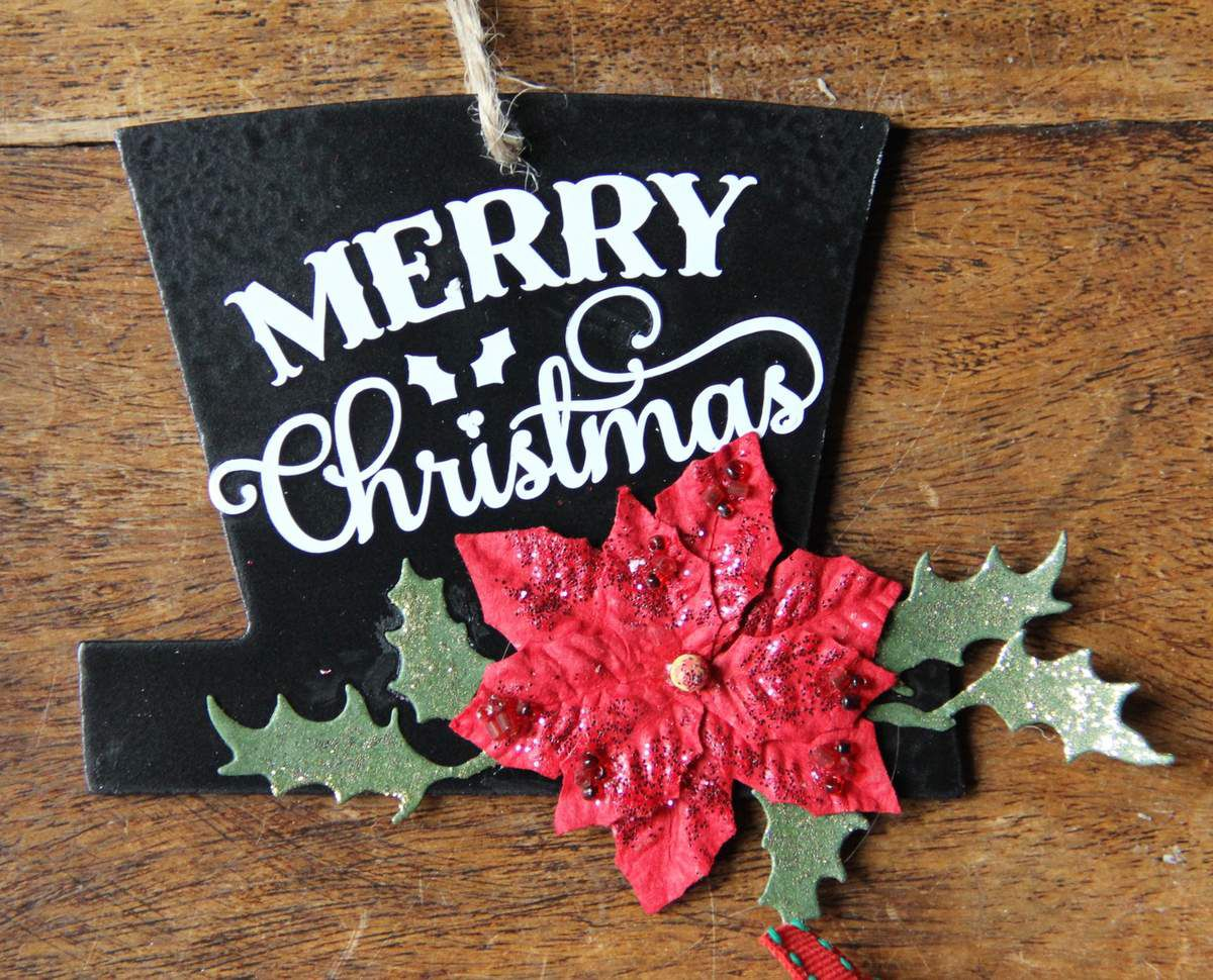 4 décorations de sapin de Noël
