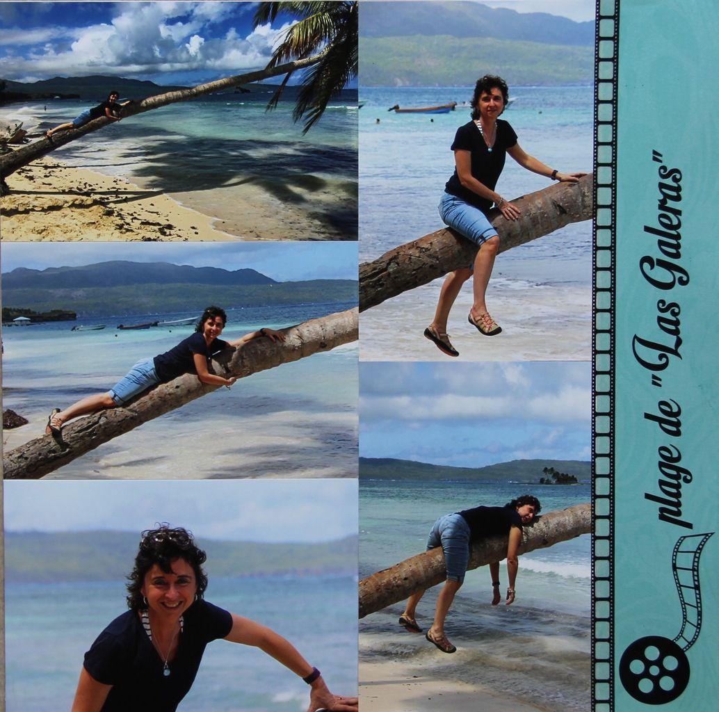 2 doubles pages, 14 photos format classique ...