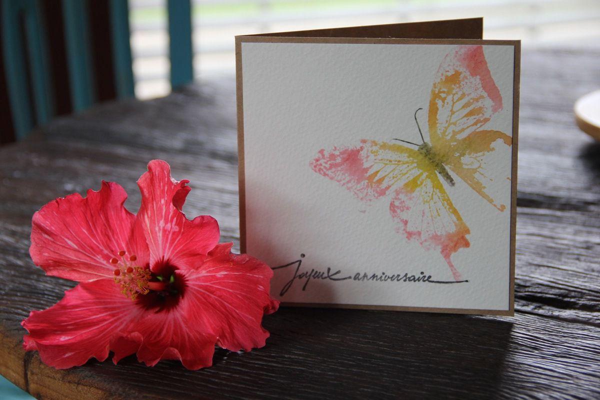 Des cartes papillons...
