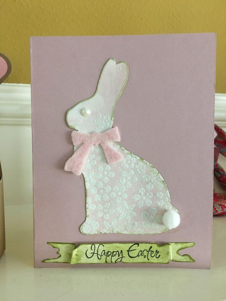 Petits lapins en papier, feutrine et tissu de Pâques