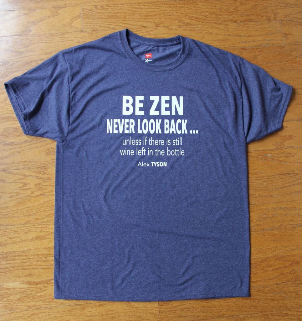 Be zen never look back