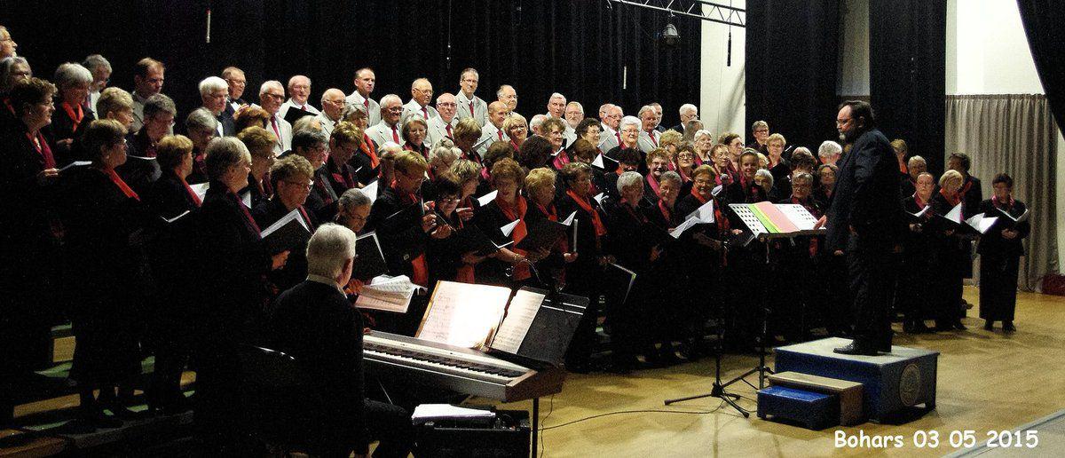 chorales Aux Quatre Vents de Bohars et de la Côte des Légendes de Lesneven en concert le 03 05 2015. Cliquer sur la photo pour l'agrandir.