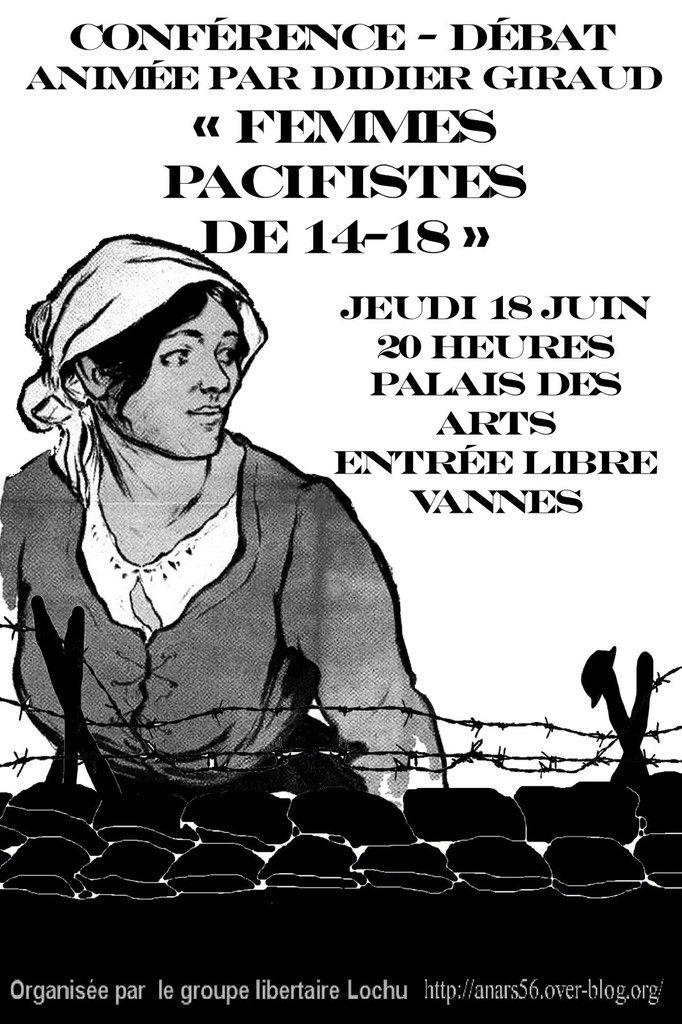 """Vannes """"Les femmes opposées à la guerre en 1914-1918"""""""