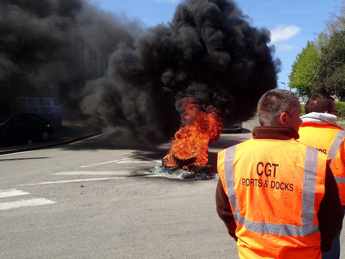 Lorient. Blocage du port contre la loi Travail