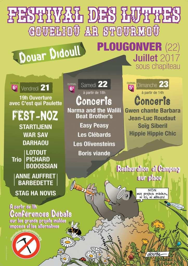 Plougonver (22) : Festival des luttes / Gouelioù ar stourmoù. VSD 21-22-23 juillet 2017