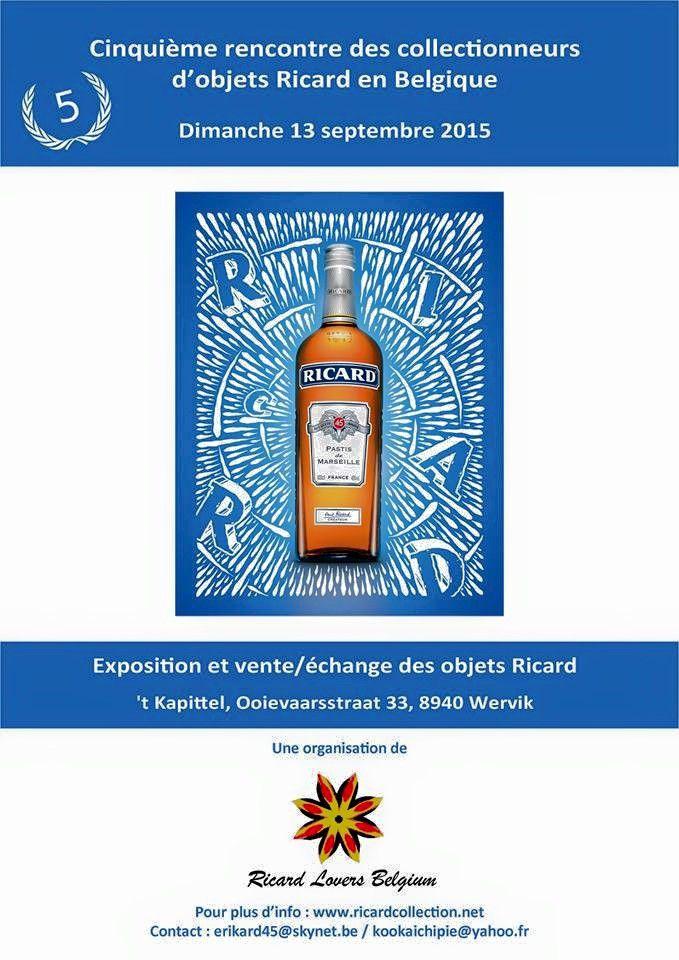 RICARD : verre commémoratif de la 5iè rencontre du RLB