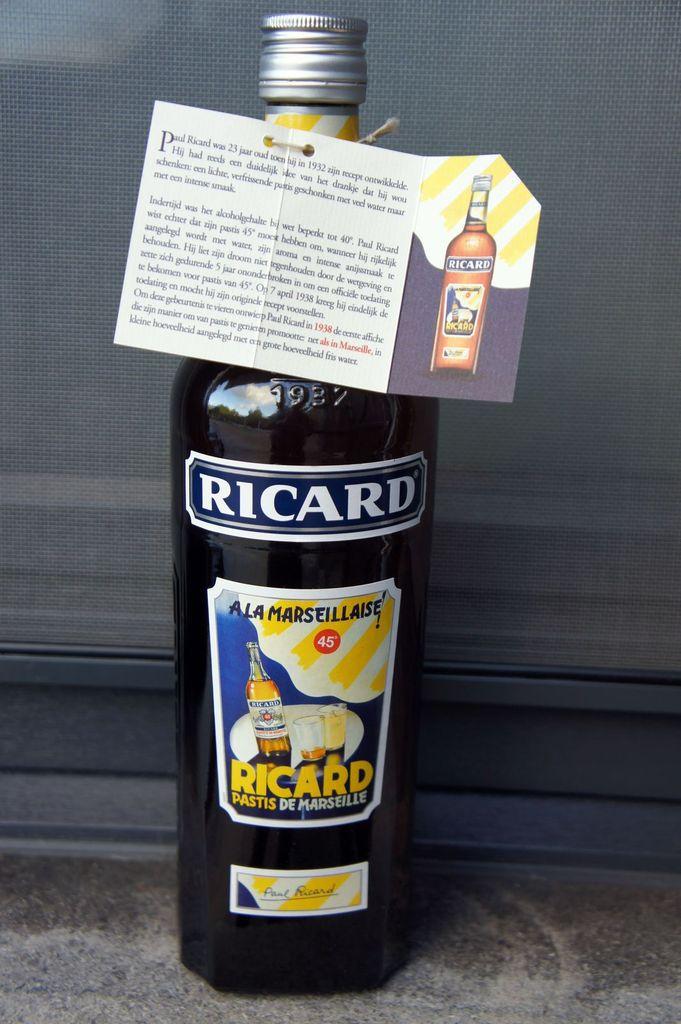 RICARD : bouteille 1 litre