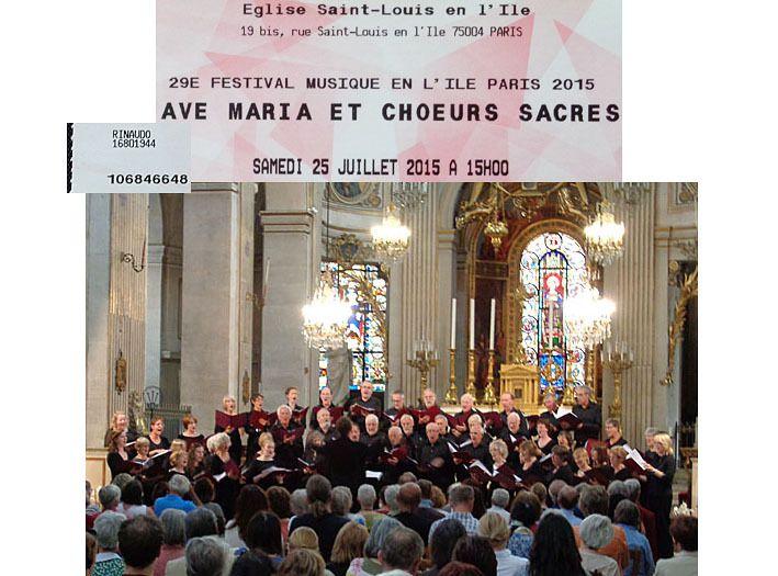 The Bath choral society en l'église Saint-Louis le 23 juillet 2015
