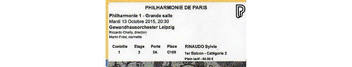 Philharmonique billet