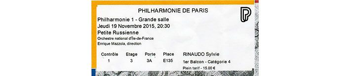 Petit Russe billet philharmonique