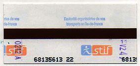 Ticket de retour en métro poinçonné à Saint Sulpice vers 22h50