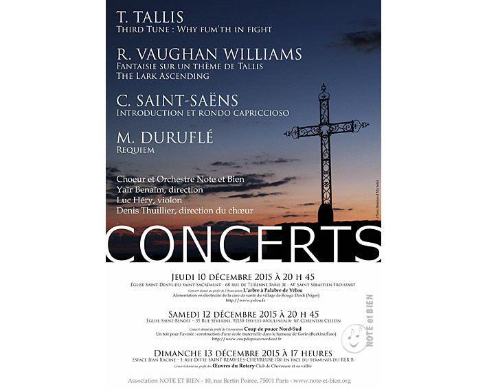 Trois concerts de Note et Bien, en décembre 2015