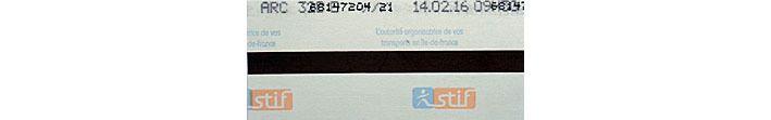 Ticket de RER oblitéré semi- illisible