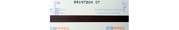 Ticket validé à Cité le dimanche( D) de la 9ème semaine (9) entre 11h et midi (12) ante meridiem (1)