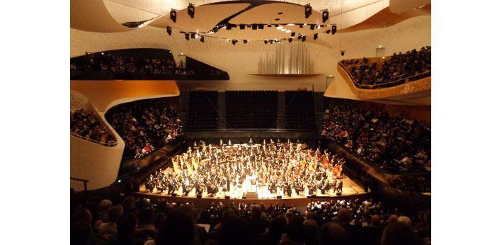 La Philharmonie en position de concert, vue de ma place