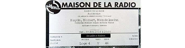 Haydn, Mozart, Mendelssohn