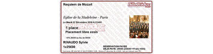 Mozart à la Madeleine