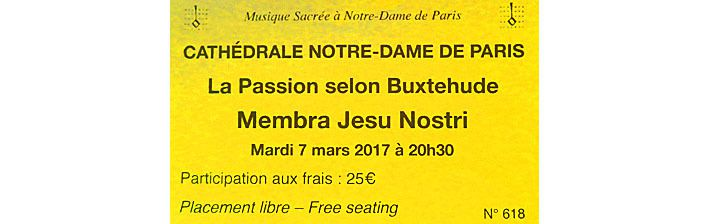 Passion selon Buxtehude