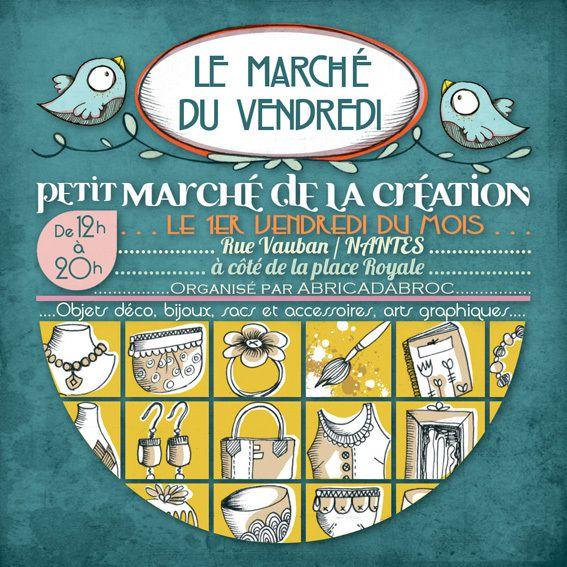 Le Marché du Vendredi 6 novembre, rue Vauban Nantes