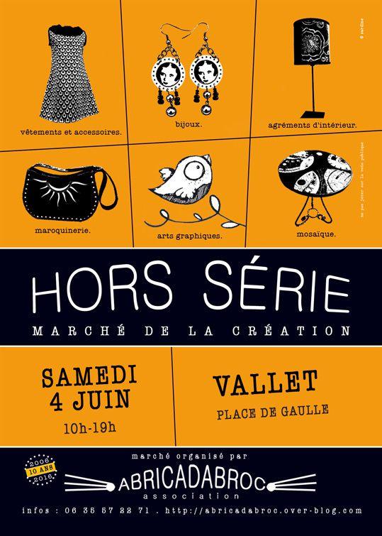 Hors Série, marché de la création, samedi 3 juin à Vallet