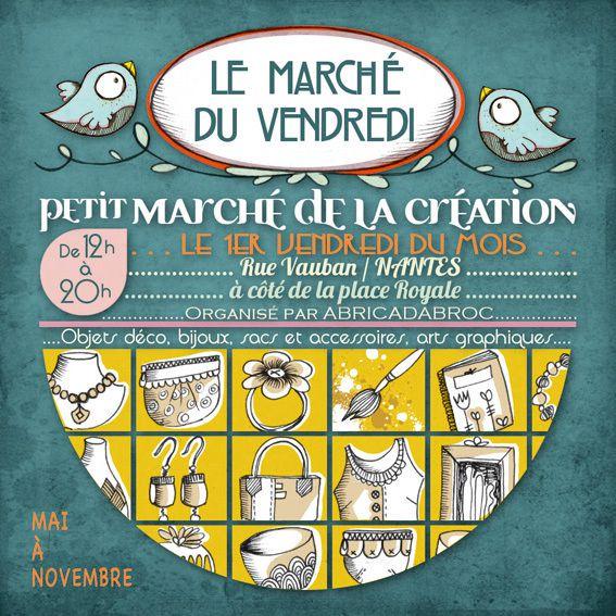 Marché de la création : Le Marché du Vendredi 4 novembre, à Nantes