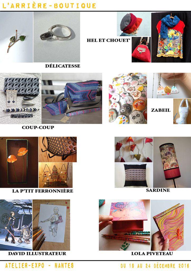 Arrière-Boutique à Nantes, du 19 au 24 décembre, à Nantes, Atelier-Expo, quartier Viarme