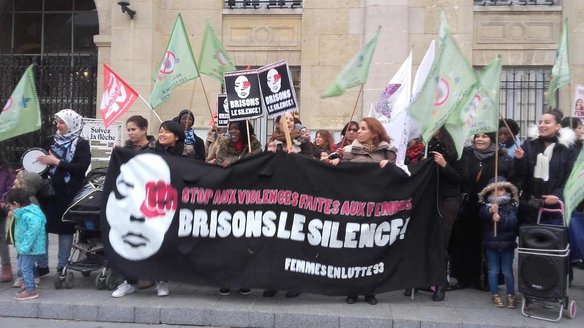 Saint-Denis, 26/11/16, manifestation contre les violences faites aux femmes, BRISONS LE SILENCE!