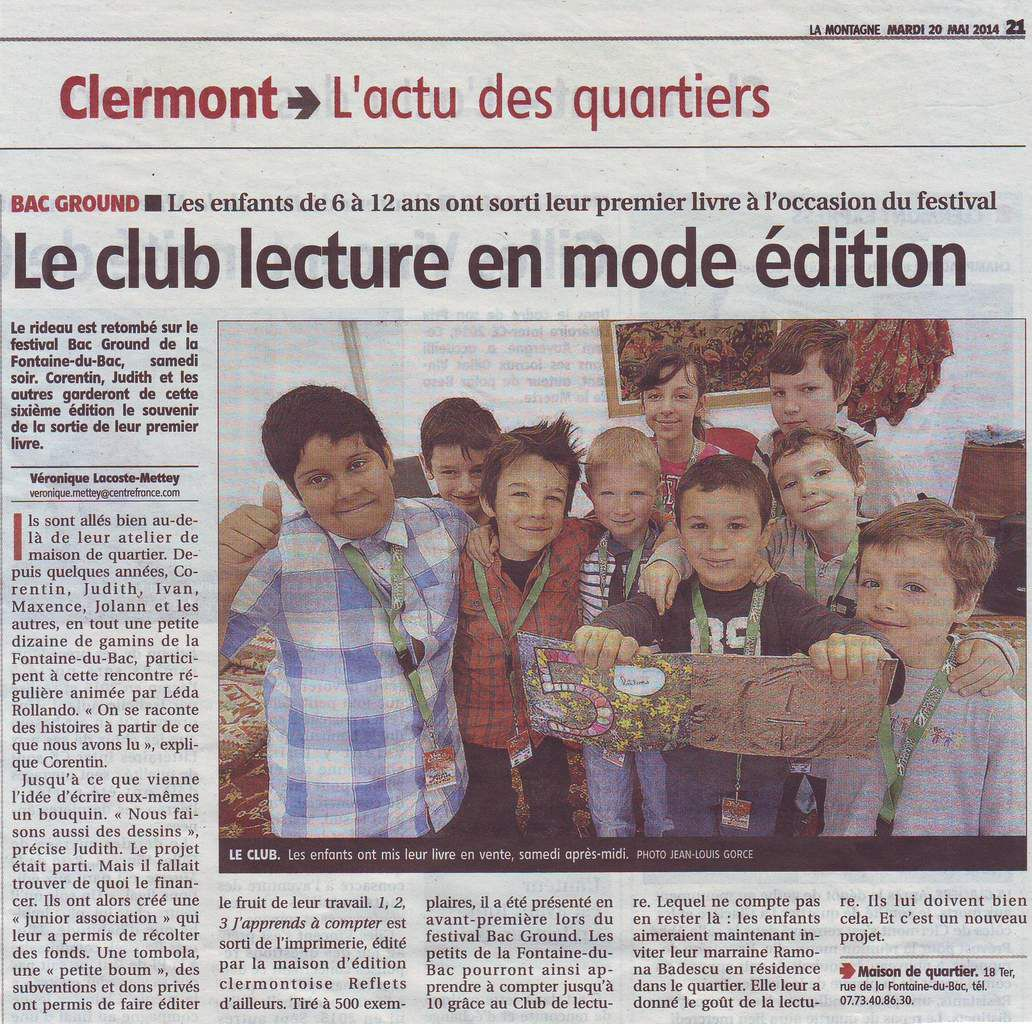 Le Club Lecture au Festival Bac Ground
