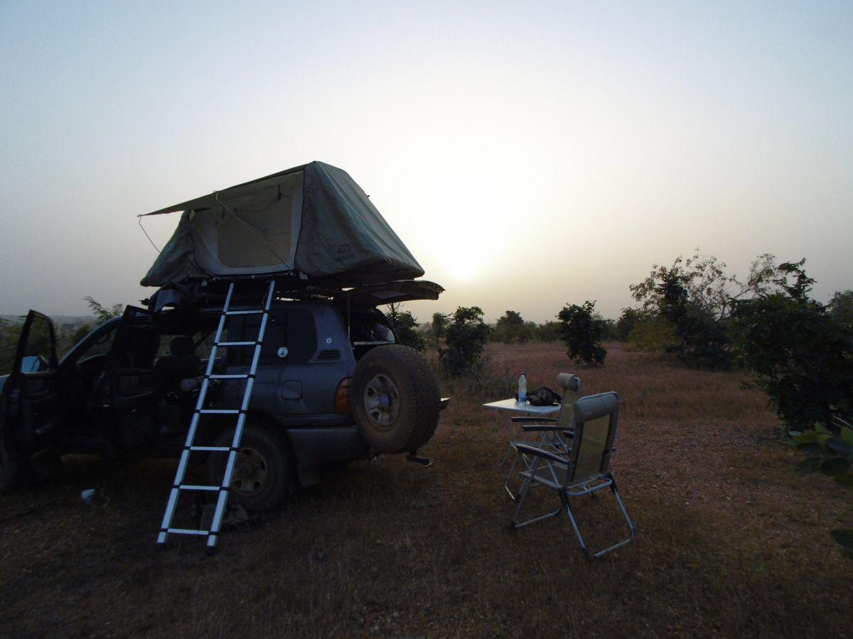 23/11/15 Retour à Nattintingou après avoir remonté le Bénin par les pistes du nord-est... Pas vu d'éléphant ds le parc W... Allons commencer le voyage retour...