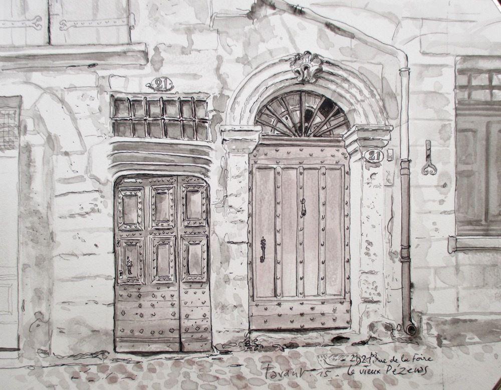 Portes anciennes dans Pézenas
