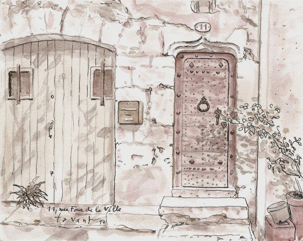 Porte ancienne à Pézenas
