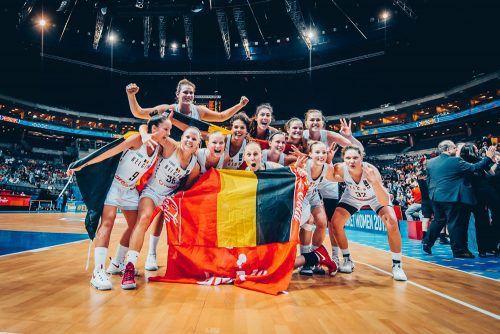 La plus belle équipe du basket féminin belge !! - Crédit Photo : fibaeurope