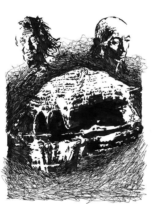 L'illustration de Romain Marty pour la nouvelle d'Arnaud Gabriel