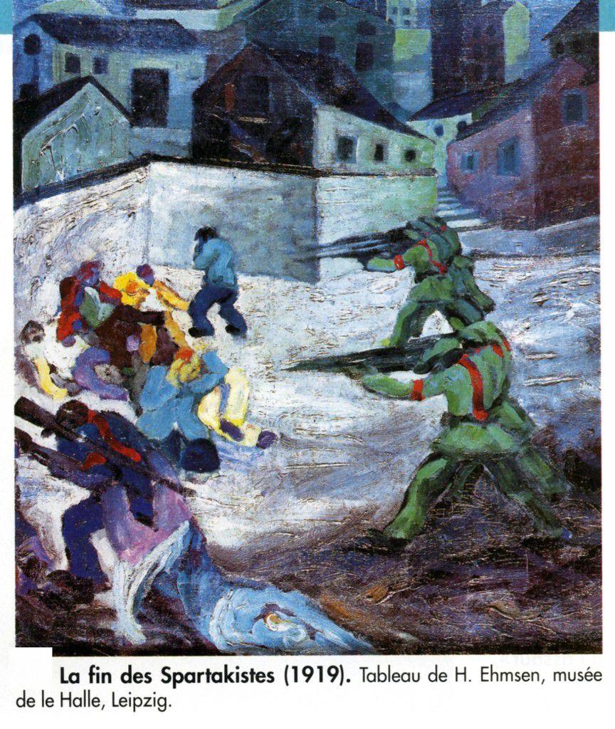 La fin des Spartakistes. Tableau de Ehmsen de 1919